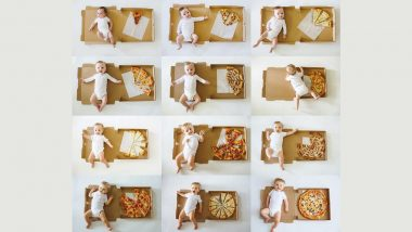 Woman Documents Her Baby's Monthly Growth With PIZZA: Here Are Some Creative Baby Monthly Milestone Picture Ideas for You