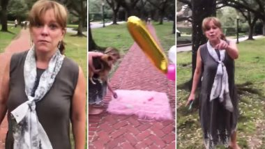 Aggressive Broadacres Socialite Harasses a Family Having Baby's 1st Birthday Shoot on a Public Place, Lashes Out at Them for 'Trampling' the Grass She 'Paid' For (Viral Video)