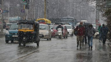 Jammu and Kashmir Weather Update: Valley Receives Fresh Spell of Rain, Snow to Continue for Next Four Days