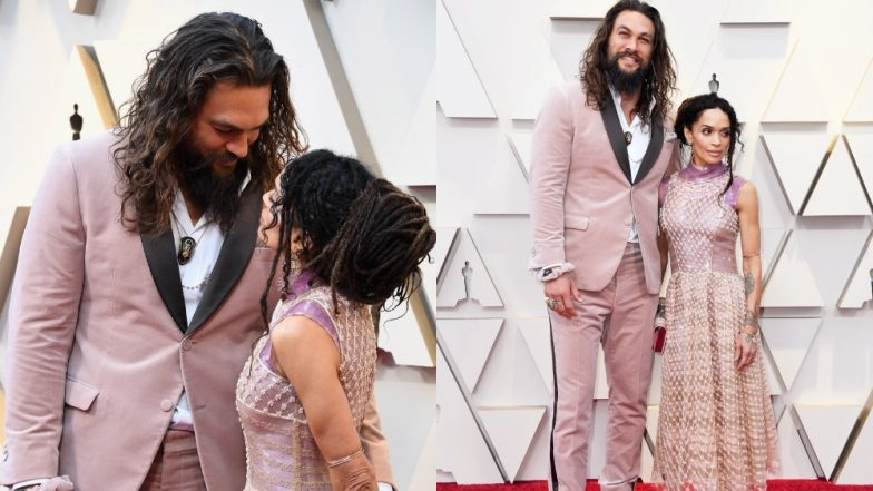 Academy Awards 2019 Red Carpet: Aquaman Actor Jason Momoa Rocks A Blush Velvet Suit As He Honours The Late Fashion Designer, Karl Lagerfeld