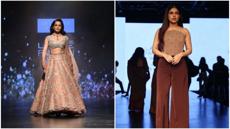 Lakme Fashion Week 2019 Day 4: Kangana Ranaut Dazzles in Anushree Reddy Creation While Bhumi Pednekar Looks Chic in Nikhil Thampi (View Pics)