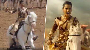 This Video of Manikarnika Actress Kangana Ranaut Trying to Ride a 'Horse' Is Utterly Insane!