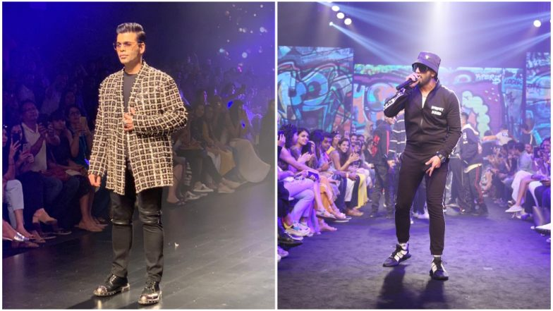 Lakme Fashion Week 2019 Day 5: Karan Johar Dazzles in an Embellished Snehla Khan Creation While Ranveer Singh Turns Into a Gully Boy (View Pics)