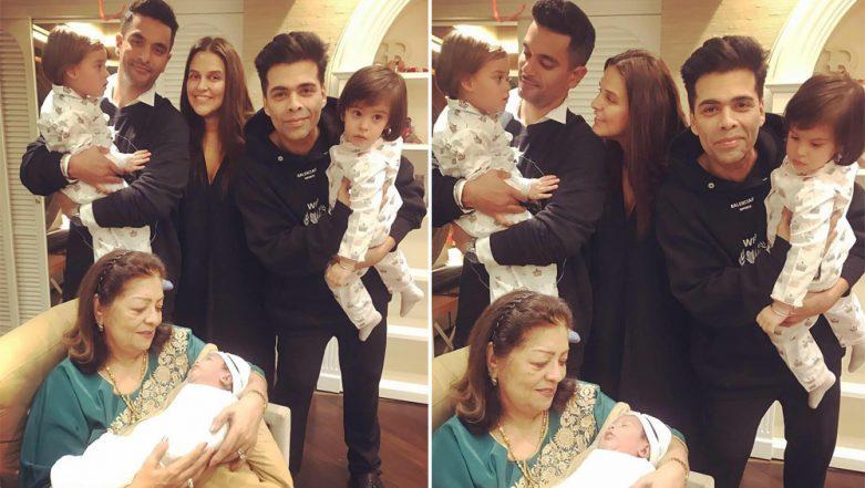 Karan Johar's Twins Yash and Roohi Turn Two, Neha Dhupia Shares Their Adorable Pic With Mehr Dhupia Bedi!