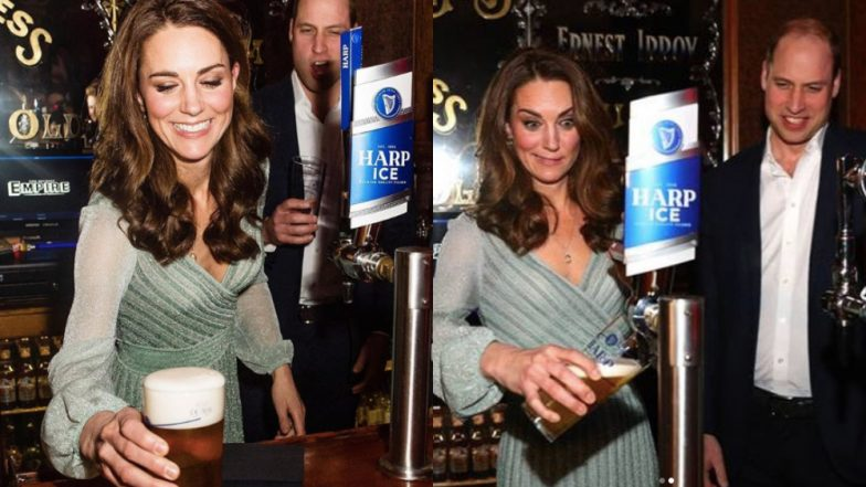 Duchess Kate Middleton Pours A Pint Of Beer In Ireland, Crowd Breaks Into A Huge Applause For The Royal Bartender (Watch Video)