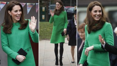 Kate Middleton Wears 'World's Angriest Dress'! That's What Twitterati Think of Duchess of Cambridge's Green Eponine Dress! See Pics