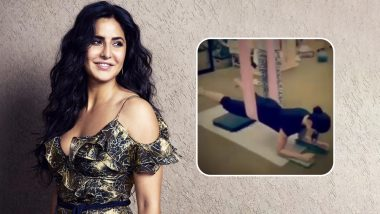 Katrina Kaif Workout in Spite of Her Toe Injury: Watch Her Fly in Aerial Pilates Exercise Video