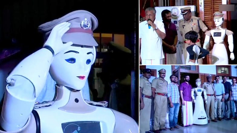 India's First Robocop KP-BOT, A Robot With The Rank of Sub Inspector Welcomed by Kerala Police; View Pics
