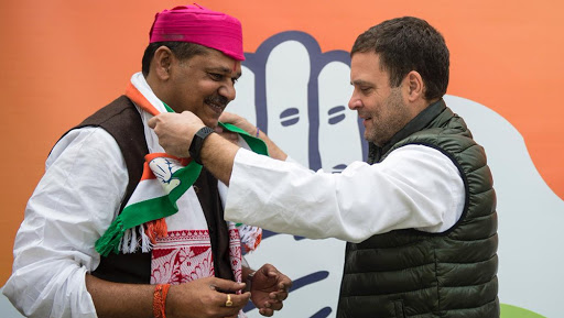 Lok Sabha Elections 2019: Suspended BJP MP Kirti Azad Joins Congress in Bihar, Likely to Contest From Darbhanga