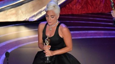 Lady Gaga's Wept Throughout As She Delivered Her Acceptance Speech For Winning Her First Oscars! Watch Video