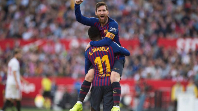 Lionel Messi Scores 50th Hat-Trick of His Career, Helps Barcelona Beat Sevilla by 4-2 at La Liga 2018-19