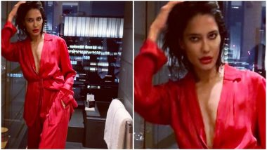 Lisa Haydon Looks Red HOT as She Heads Out for a Dinner in Tokyo-View Pic