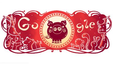 Lunar New Year 2019 Google Doodle: Chinese Year of The Pig Greetings With a Cute GIF Artwork