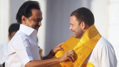 Lok Sabha Elections 2019: Congress to Contest 9 Seats in Alliance With DMK in Tamil Nadu, Says MK Stalin