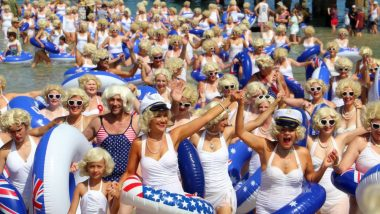 Adelaide Beach Filled with Marilyn Monroes a Set World Record and Also Raised Money for Cancer Research