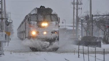 US Polar Vortex Effect: Chicago sets its Rail Tracks on Fire to Keep them Functioning