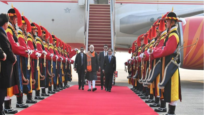 Narendra Modi in South Korea: Indian PM to Be Conferred With Seoul Peace Prize