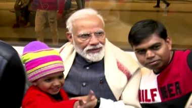 PM Narendra Modi Takes Delhi Metro Ride From Khan Market To Go To ISKCON Temple Bhagavad Gita Event, Clicks Selfies With Passengers; Watch Video