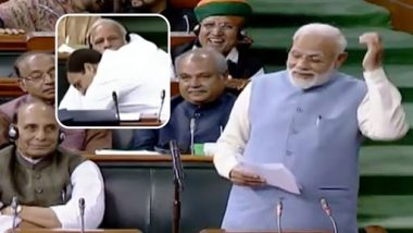 PM Narendra Modi Mocks Rahul Gandhi on Last Day of Parliament For Teaching Him Difference Between 'Gale Lagna' & 'Gale Padna'
