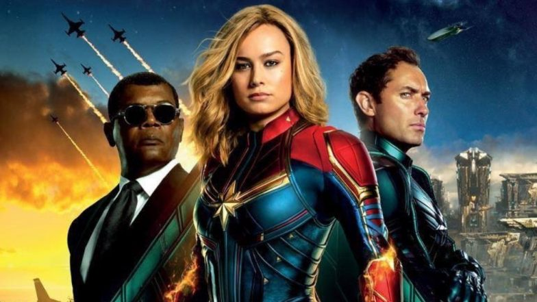 Captain Marvel International Poster: Brie Larson As Carol Danvers With Her Trusted Squad, Including Goose, Will See You On March 8!