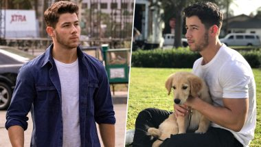 Nick Jonas Posts An Adorable Picture With A Puppy On Instagram, We Bet It'll Give You Heart Eye Emoji Feels