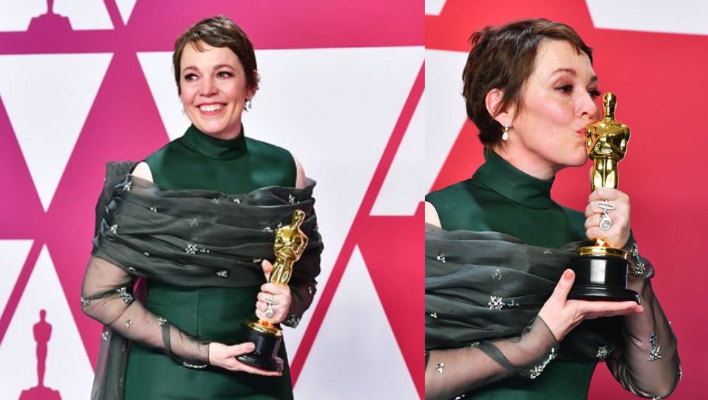 Olivia Colman Says 'Can't Remember' After Winning at the 2019 Academy Awards for Best Actress