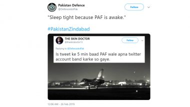 Pakistani Tweet About 'PAF Being Awake' Gets Brutally Trolled on Social Media After India's Surgical Strike 2, Check Funny Tweets