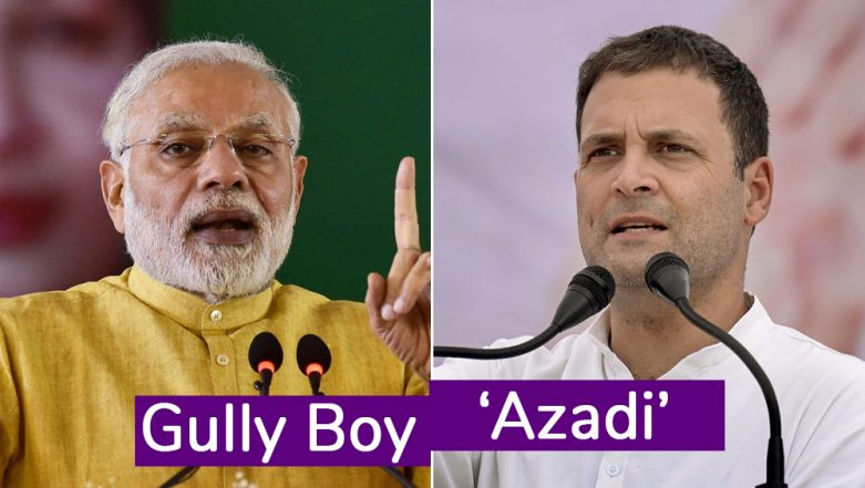 Azadi Battle Between Congress and BJP on Twitter; Watch Videos of Two Political Versions Of The 'Gully Boy' Song