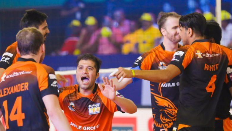 PVL 2019:Black Hawks Hyderabad Beat U Mumba