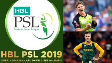 PSL 2019 Teams Squads & Players to Watch Out For: AB De Villiers to Shane Watson, Star Attractions of Pakistan Super League 4