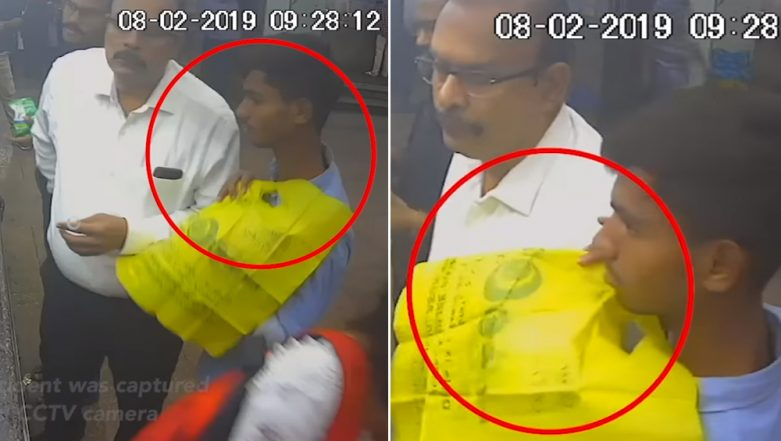 Mumbai: Thief Steals Motorman's Phone While He Was Buying Coffee at Churchgate Station, Watch Viral Video