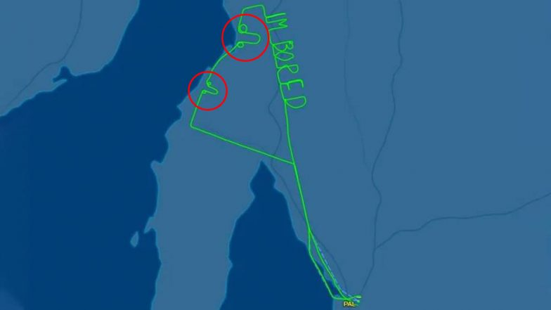 Adelaide Pilot Draws Penis and 'I m Bored' Graffiti in Sky on Test Flight, View Pic!