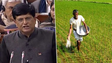 Pradhan Mantri Kisan Samman Nidhi Announced in Budget 2019: Rs 6,000 Per Year to be Given as Minimum Income Support To Farmers In Bank Accounts
