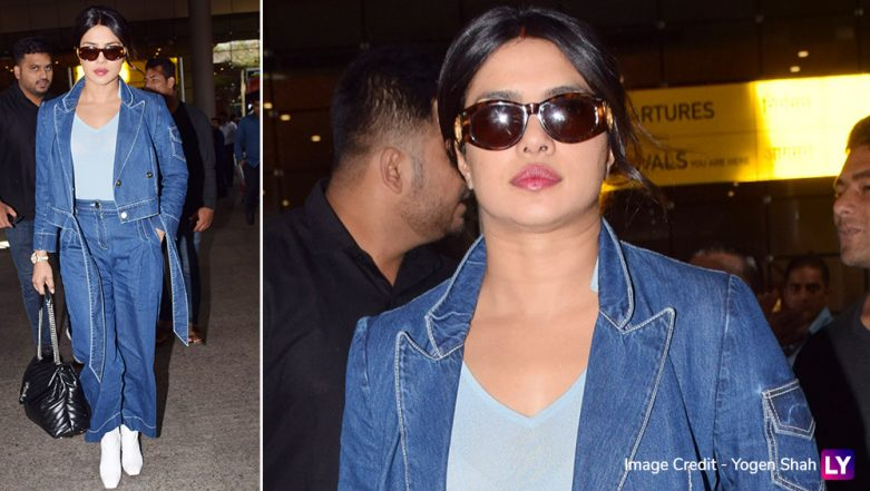 Priyanka Chopra's Chic Denim Airport Look Is Something You Would Want to Try Out ASAP! (View Pics)