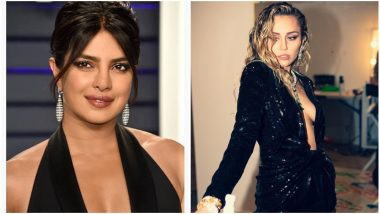 Nick Jonas' Ex Girlfriend Miley Cyrus is in Awe With Priyanka Chopra's Beauty! (View Pic)