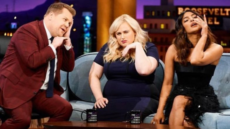 Priyanka Chopra And Rebel Wilson Give James Corden Some Hot-Model-Pose Lessons At The Late Late Show - View Pics!