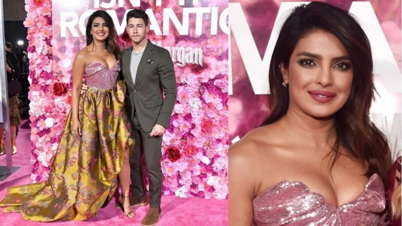 Priyanka Chopra Opts For A Shimmery Strapless Gown At The Premiere Of 'Isn't It Romantic?' And Makes Us Lust Over It!