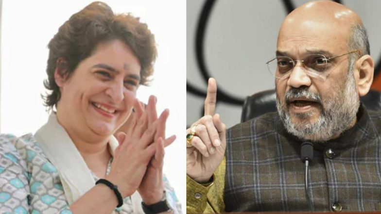Lok Sabha Elections 2019: Amit Shah Takes Swipe at Priyanka Gandhi's Entry in Active Politics, Says 'Brother Not Married, So Sister Has Come'