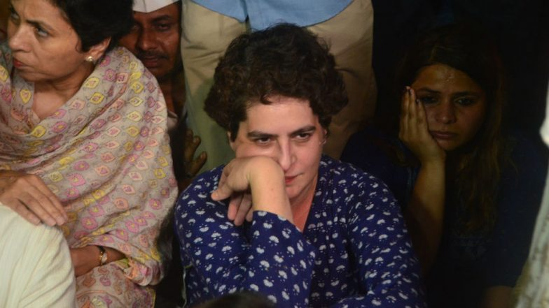 Priyanka Gandhi Detained: Crime Won't Be Controlled by Gagging Opposition's Voice, Says Congress