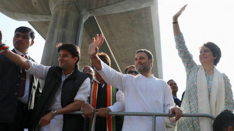 Priyanka Gandhi Makes Political Debut With Mega Roadshow With Rahul, Jyotiraditya Scindia in Lucknow