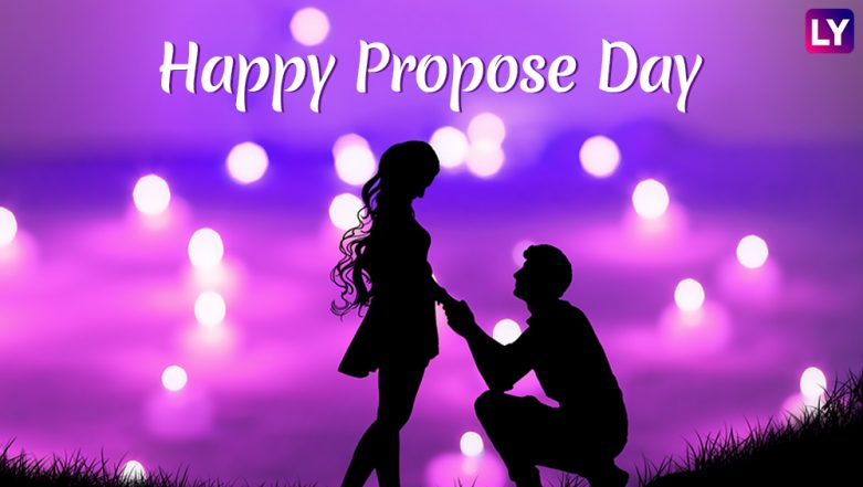 Propose Day 2019 Images & HD Wallpapers for Free Download Online: Wish Happy Propose Day With Romantic GIF Greetings & WhatsApp Sticker Messages During Valentine Week