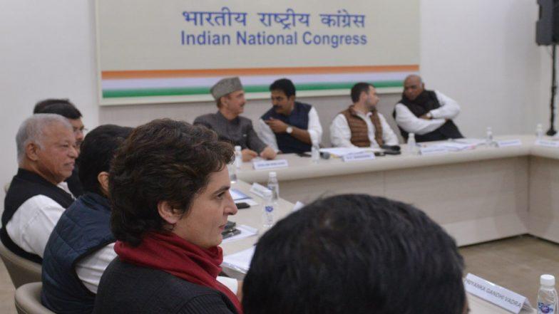 Priyanka Gandhi Seated Away from Rahul At AICC Meeting
