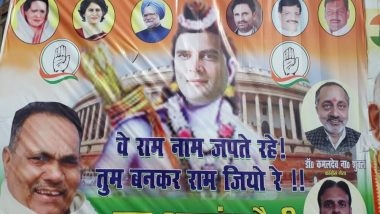 Rahul Gandhi Showed as Lord Ram in Patna Poster, Complaint Filed in Civil Court Against Congress President & Others