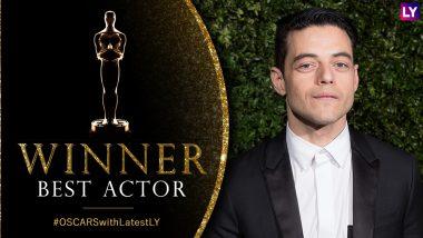 Oscars 2019 Best Actor Winner: Rami Malek As Former Queen Singer Freddie Mercury Wins the Trophy For Bohemian Rhapsody At 91st Academy Awards