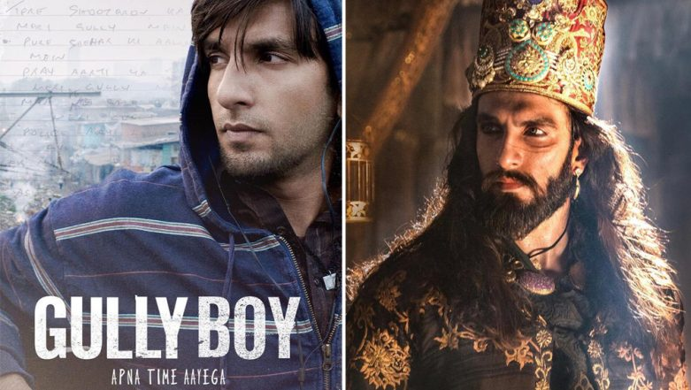 Ranveer Singh's BIGGEST Box Office Openers: Gully Boy Beats Padmaavat to Grab the Second Spot, Simmba Still on Top
