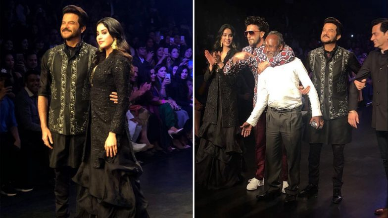 Lakme Fashion Week 2019: Ranveer Singh, Janhvi Kapoor and Anil Kapoor Grace The Ramp Together Giving Us Major 'Takht' Vibes!