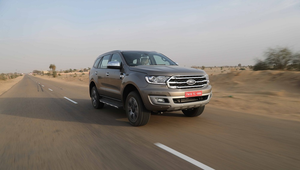 ford endeavour facelift suv launched  india prices start  rs  lakh latestly