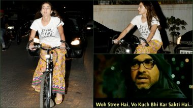 Pics of Sara Ali Khan Cycling in 'Ghagra' Make Us Say 'Woh Stree Hai Woh Kuch Bhi Kar Sakti Hai'