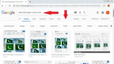 Google Search For 'Best Toilet Paper in The World' Shows Images of Pakistan Flag! Is It Pulwama Attack Effect?