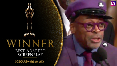 Oscars 2019: Spike Lee Wins Best Adapted Screenplay for BlacKkKlansman, Says 'Make the Moral Choice Between Love Versus Hate' in US Elections 2020